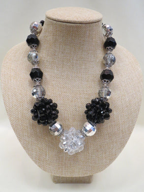 ADO | Black & Silver Chunky Necklace - All Decd Out