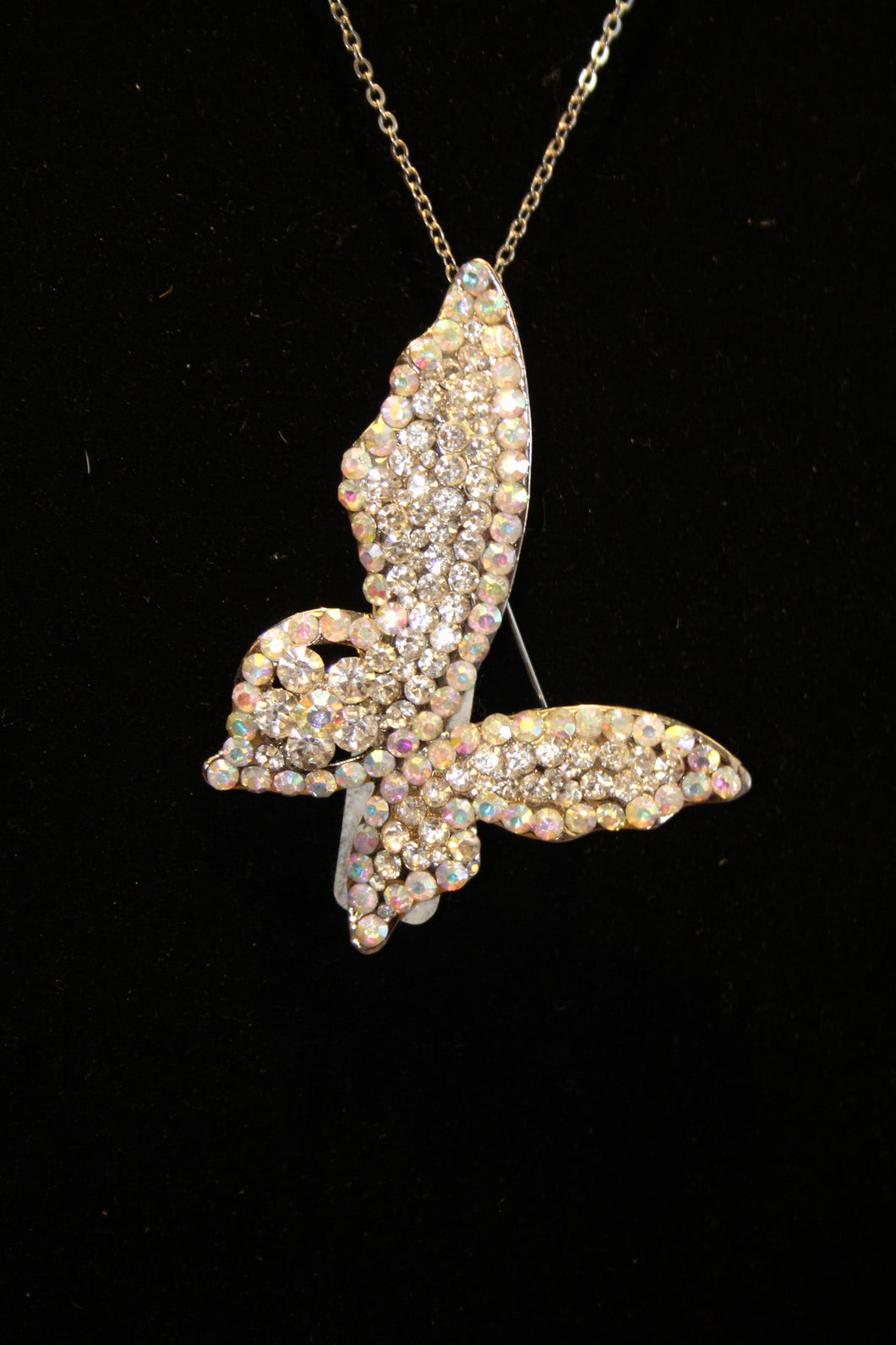 ADO | Embellished Butterfly Pendant Silver - All Decd Out