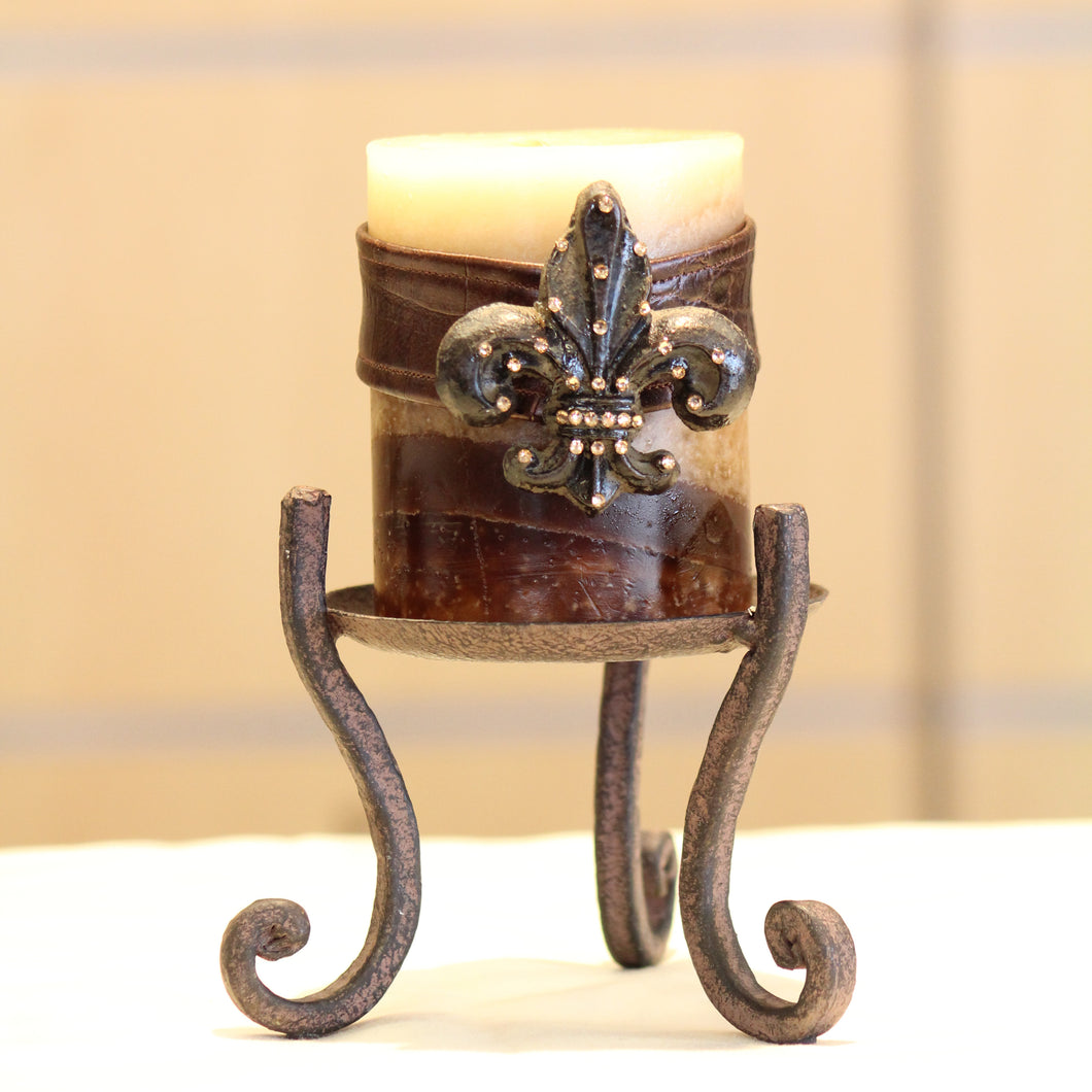 Candle Holder | Small Metal Candle Holder