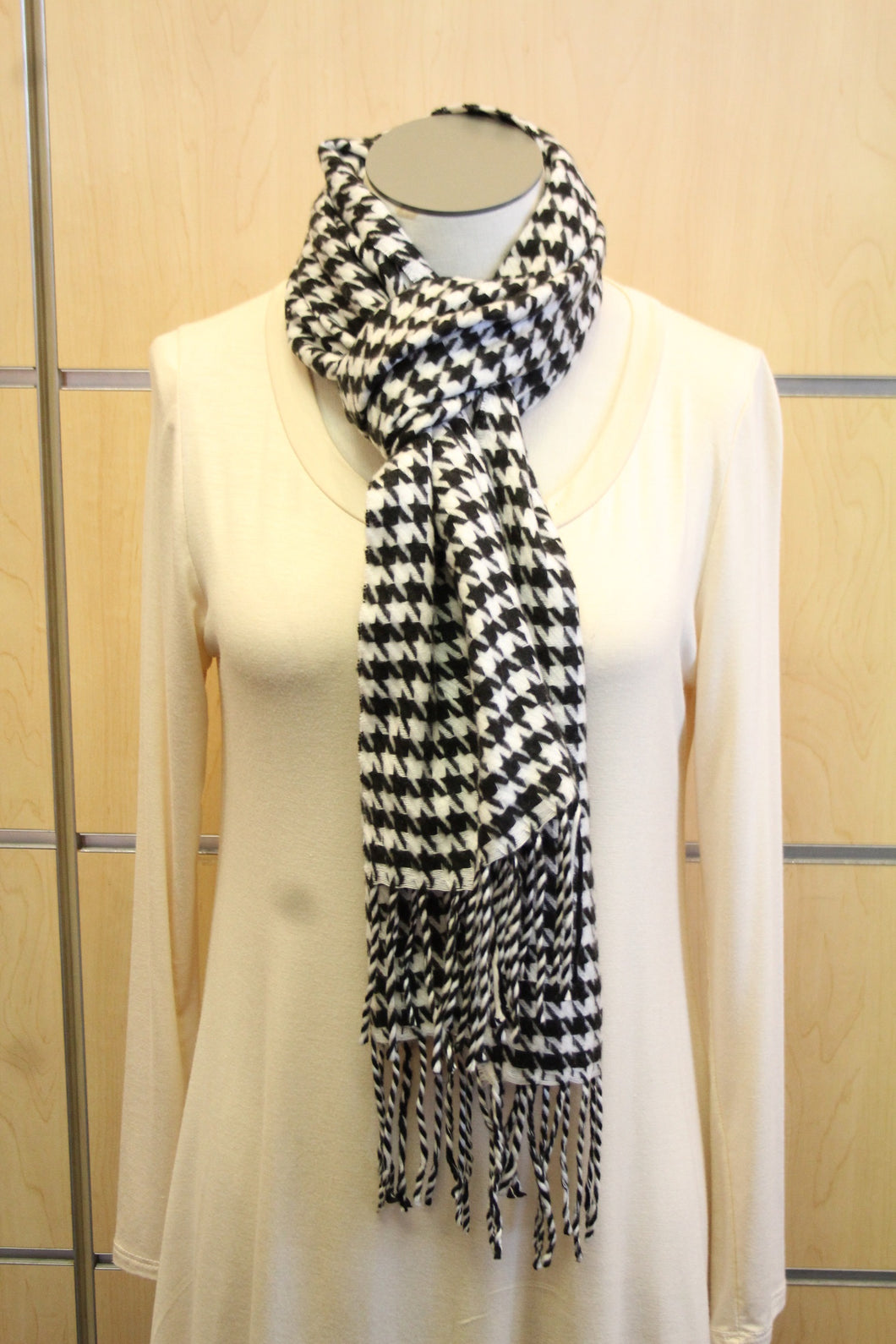 ADO | Cashmere Wrap Scarf Black & White - All Decd Out