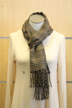 ADO | Cashmere Wrap Scarf Black & Tan - All Decd Out