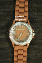 Brown/Brown Clear Rhinestones | Silicone Band - All Decd Out
