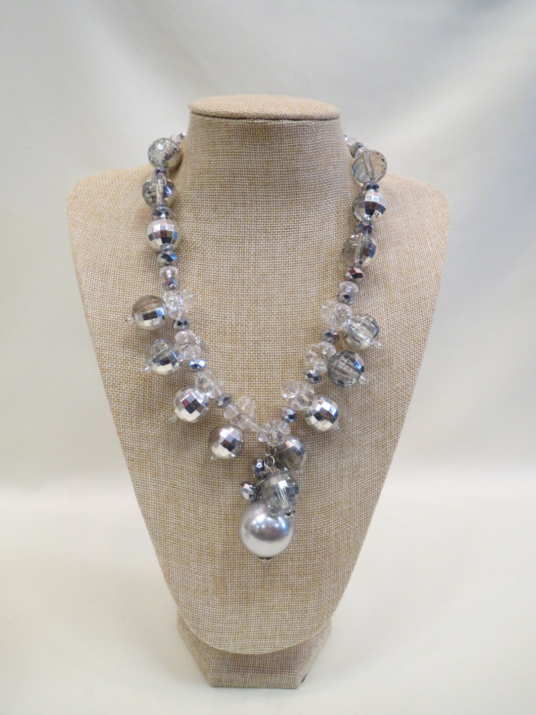 ADO Silver & Pearl Chunky Necklace | All Dec'd Out