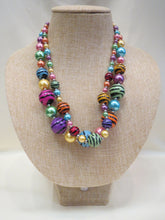 ADO | Zebra & Multi Color Pastel Beaded Necklace