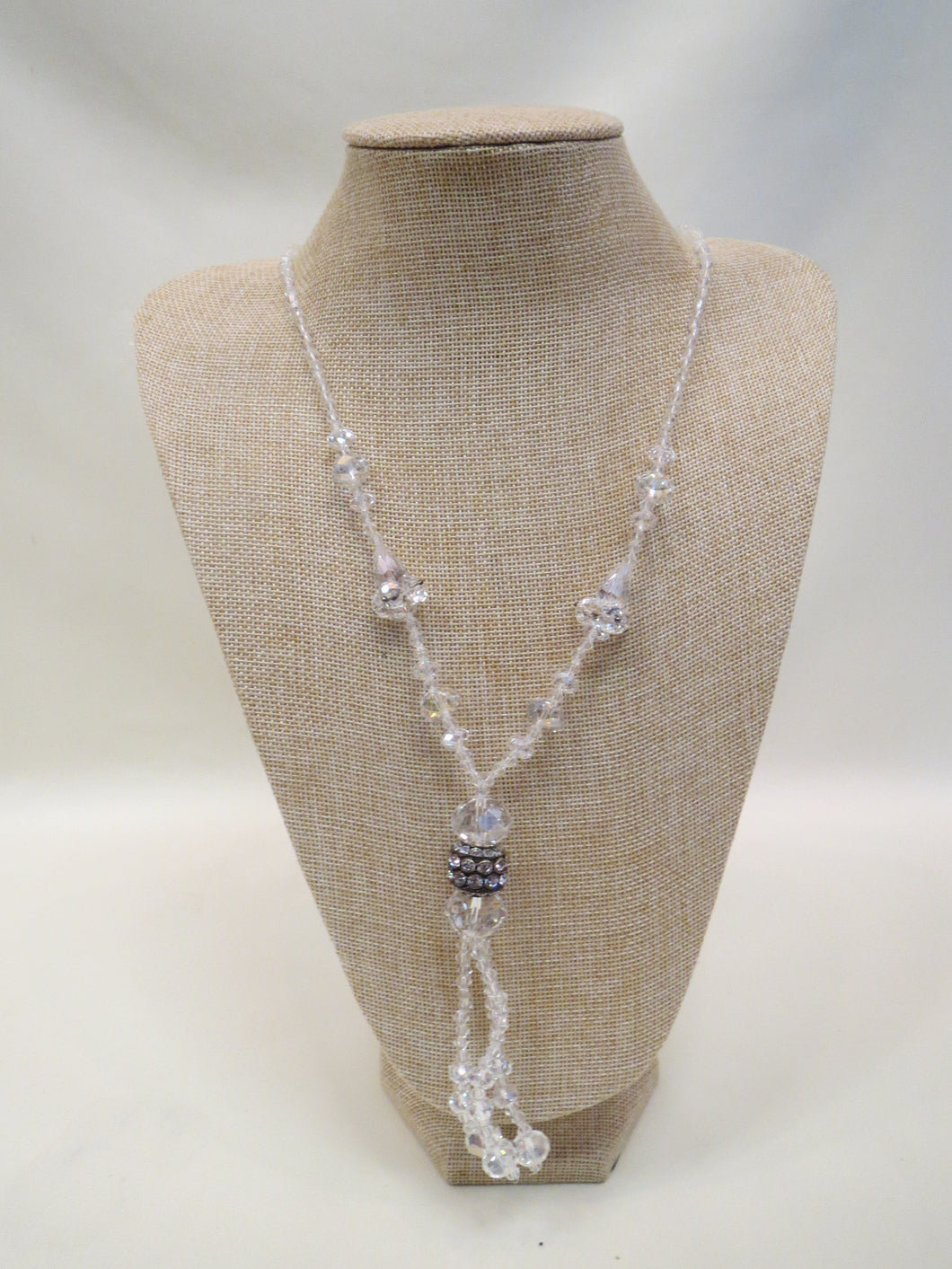 ADO | Crystal Beaded Necklace w/ Tassel - All Decd Out