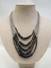 ADO | Multi Chain Necklace with Black Beads - All Decd Out