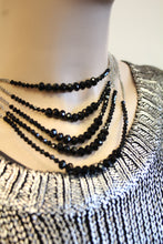 ADO | Multi Chain Necklace with Black Beads