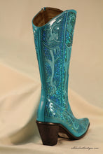 Helen's Heart | Tall Full Embellished Sequin Turquoise Boot