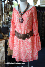 2Tee Couture | Aztec Print Dress Coral - All Decd Out