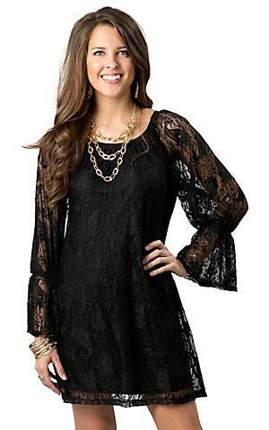 2 Tee Couture | Lace Dress Black - All Decd Out