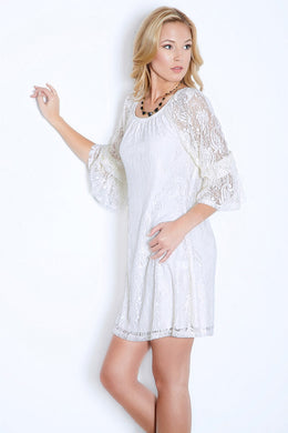 2 Tee Couture | Lace Dress Ivory - All Decd Out