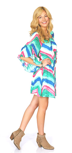 2 Tee Couture | Abstract Multi Colored Dress
