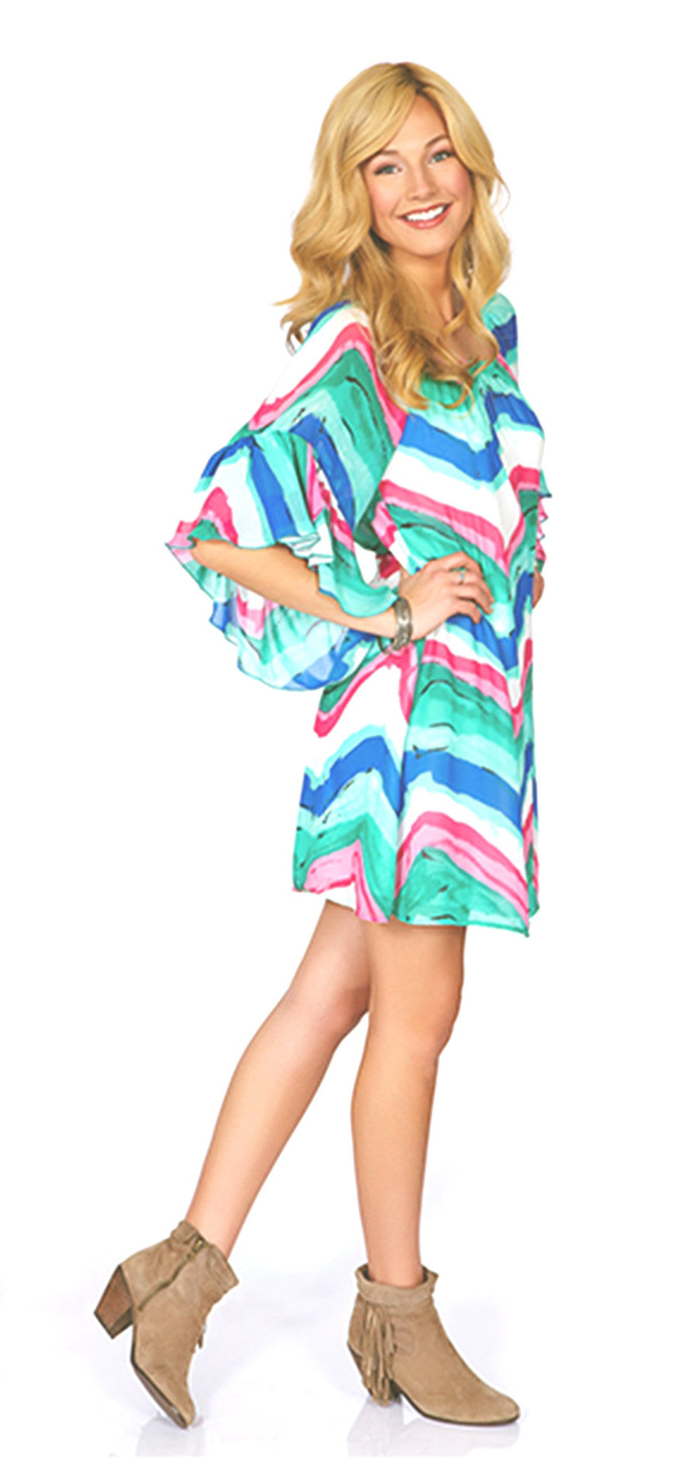 2 Tee Couture | Abstract Multi Colored Dress - All Decd Out