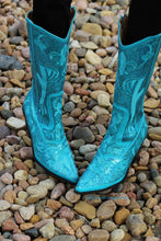 Helen's Heart | Full Embellished Sequin Turquoise Boot