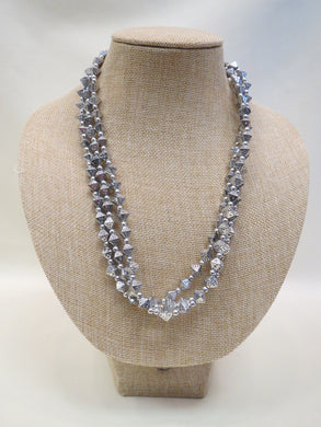 ADO 3 Strand Silver Necklace | All Dec'd Out