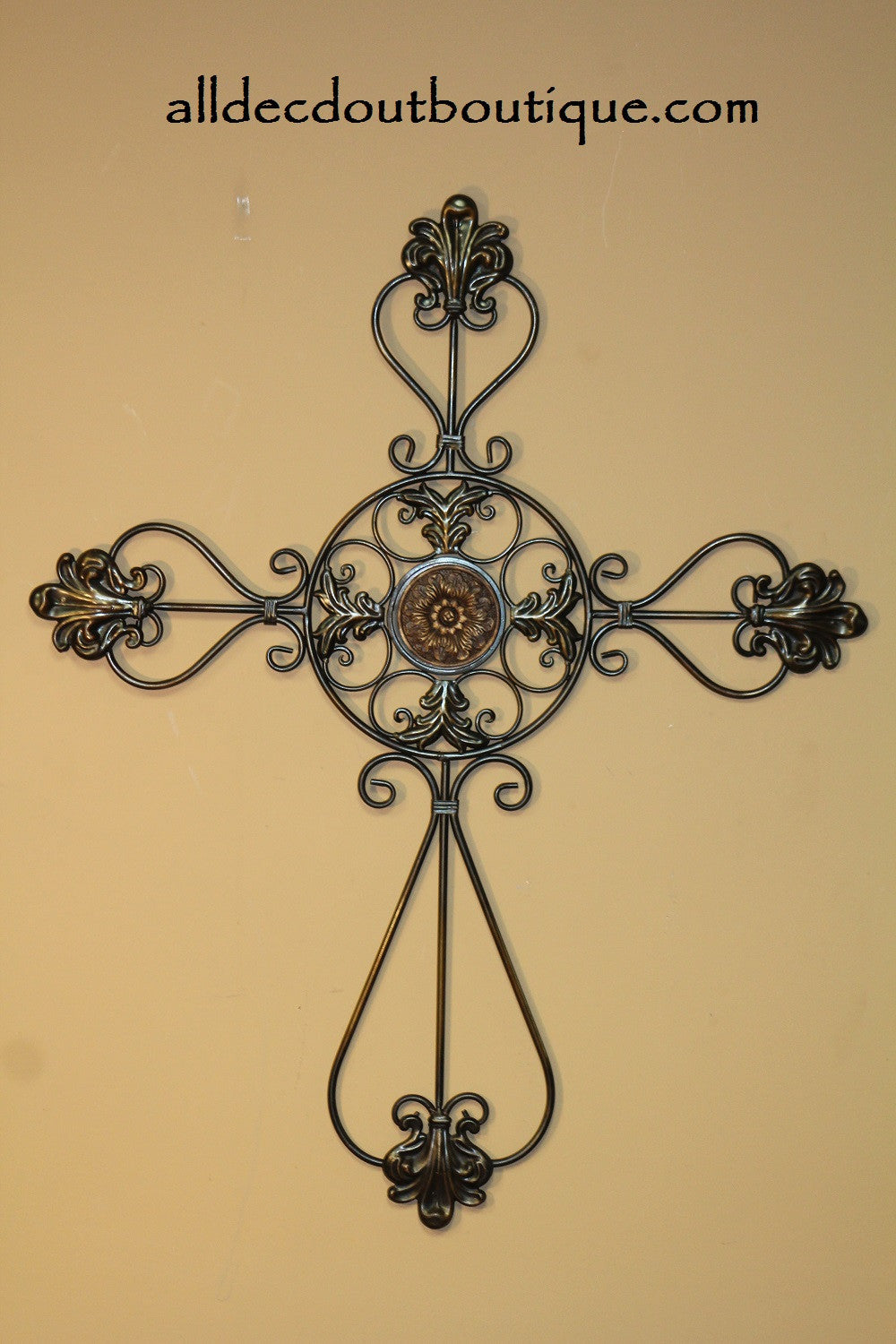 Wall Decor | Metal Hanging Cross - All Decd Out