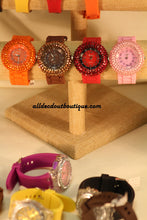 Orange/Orange Orange Rhinestones | Silicone Band - All Decd Out