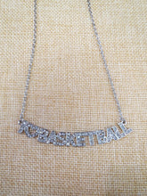 ADO | Hometown Pride Basketball Necklace Silver - All Decd Out