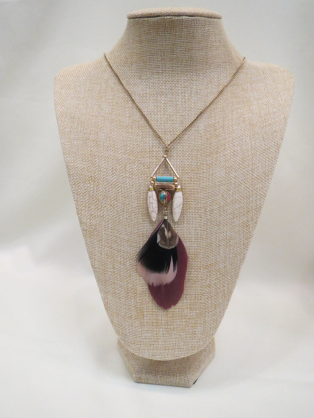 ADO | Feather Tribal Necklace - All Decd Out