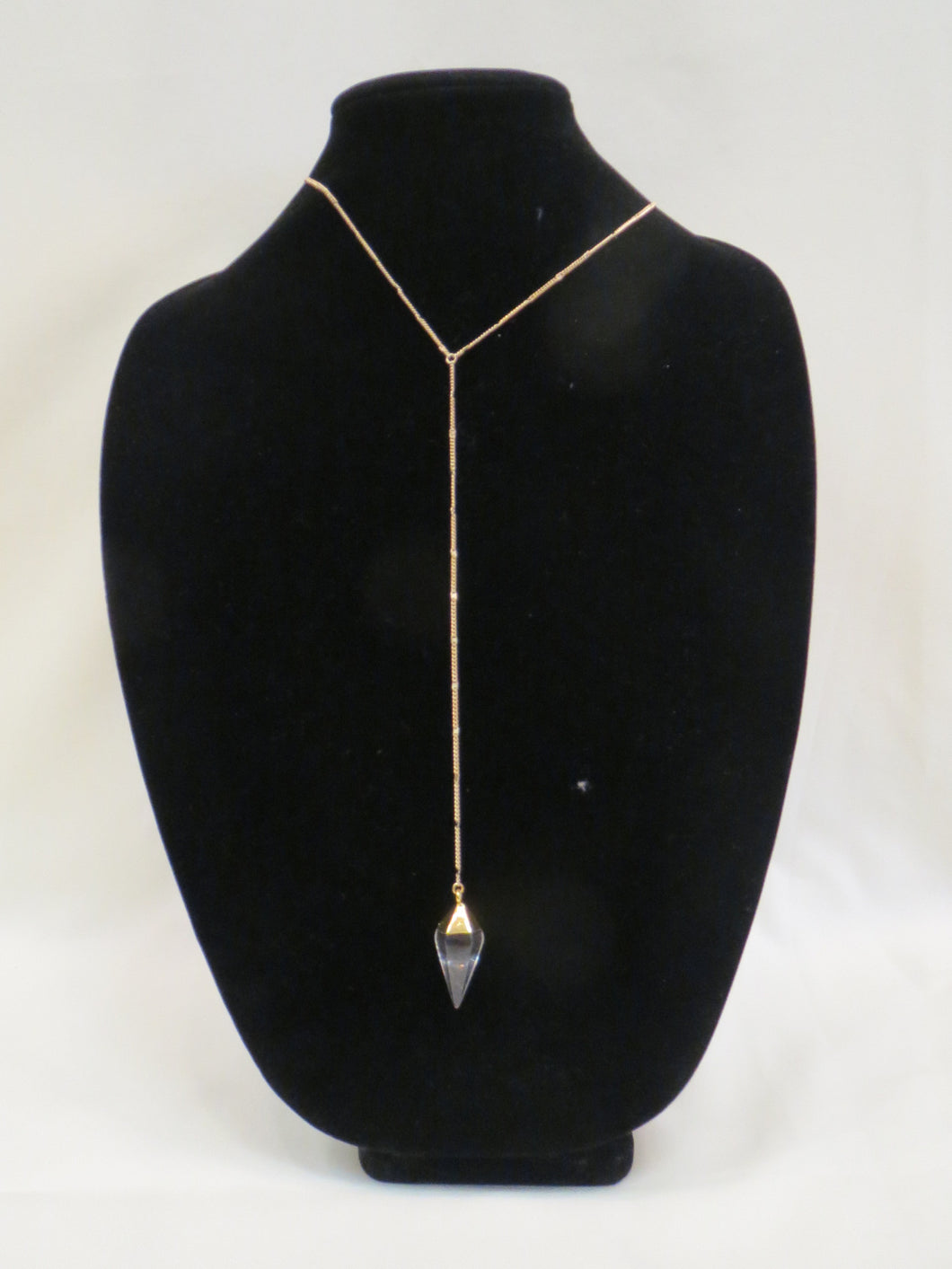 ADO | Gold Long Crystal Necklace - All Decd Out