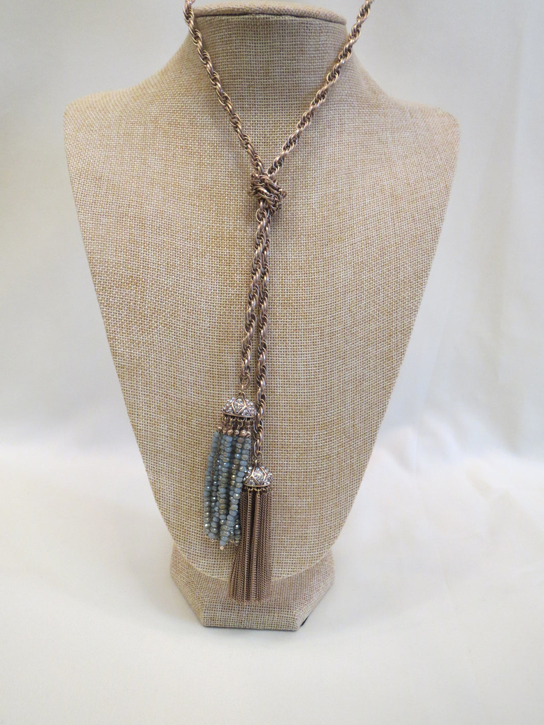 ADO | Gold Tassel Necklace - All Decd Out