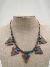 ADO Wood Color Necklace Turquoise & Copper | All Dec'd Out