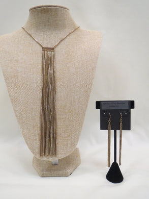 ADO | Antique Gold Tassel Necklace Long - All Decd Out