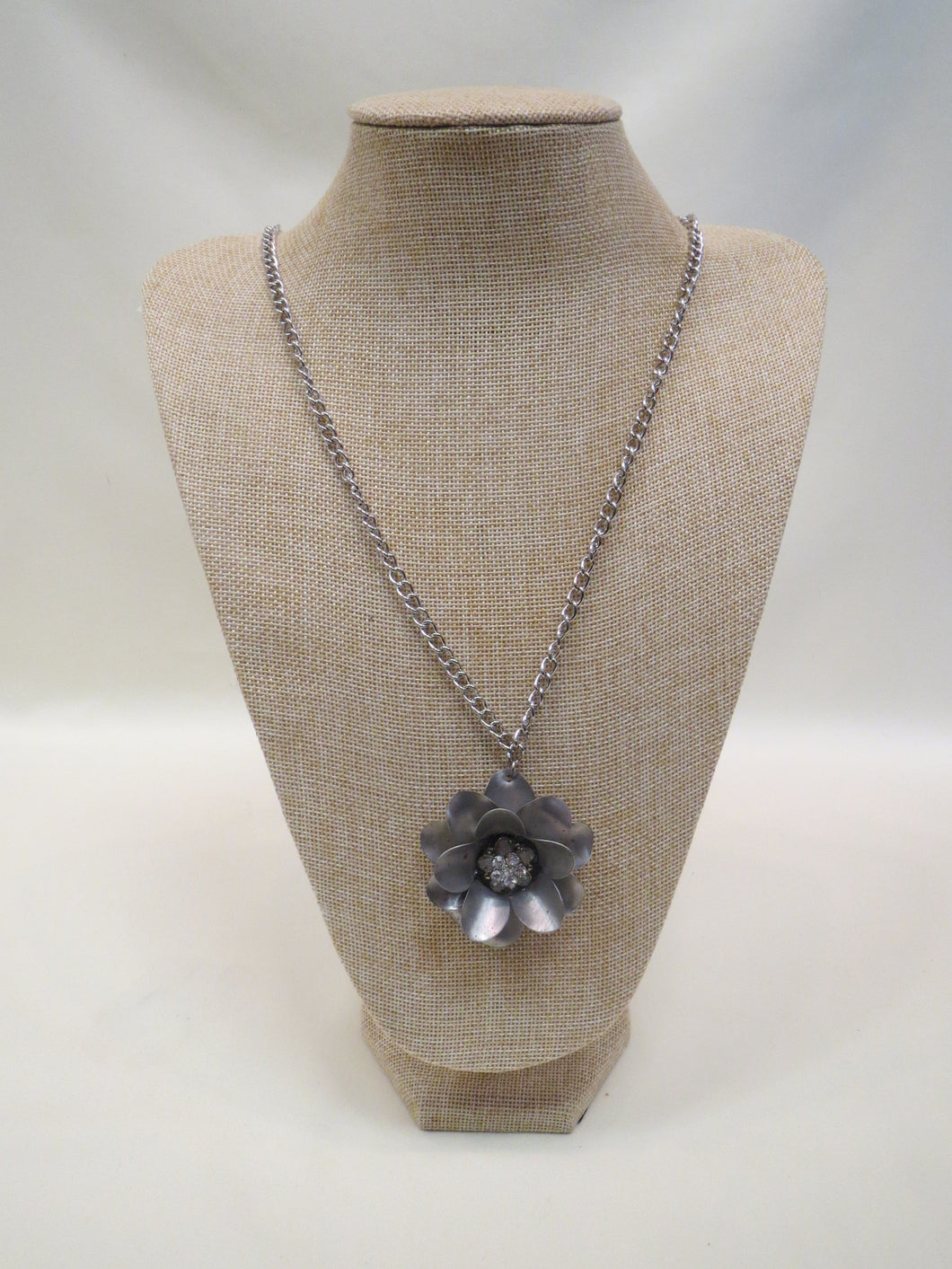 ADO | Embellished Metal Rose on Long Adjustable Chain - All Decd Out