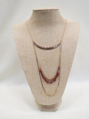 ADO | Gold Chain Necklace with Red Tassels - All Decd Out