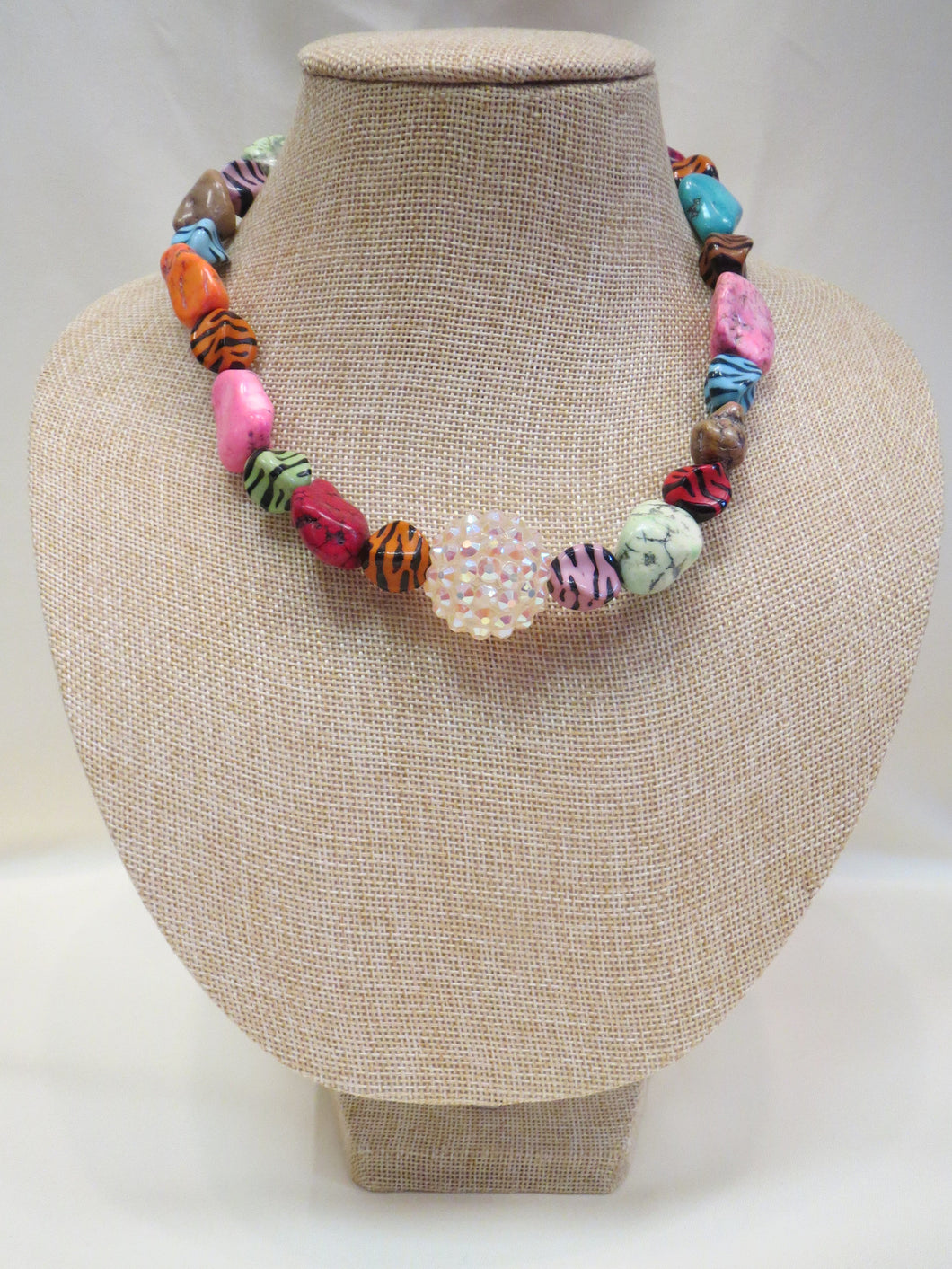 ADO | Tiger & Multi Color Beaded Necklace