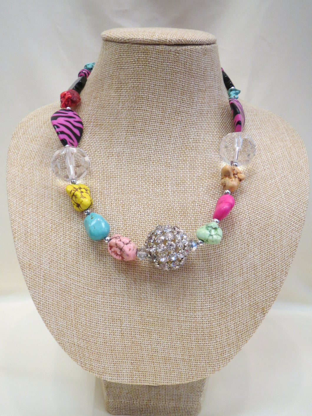 ADO | Tiger, Cross, & Multi Color Beaded Necklace