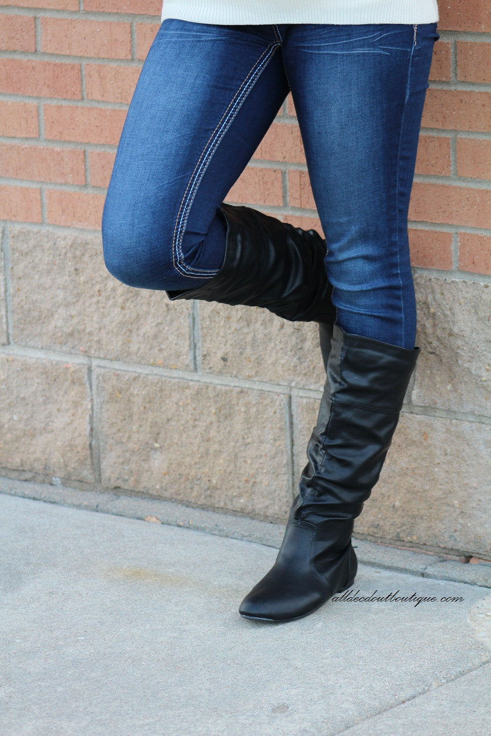 Bonnibel | Danniz Mid-Calf Slouchy Boot Black