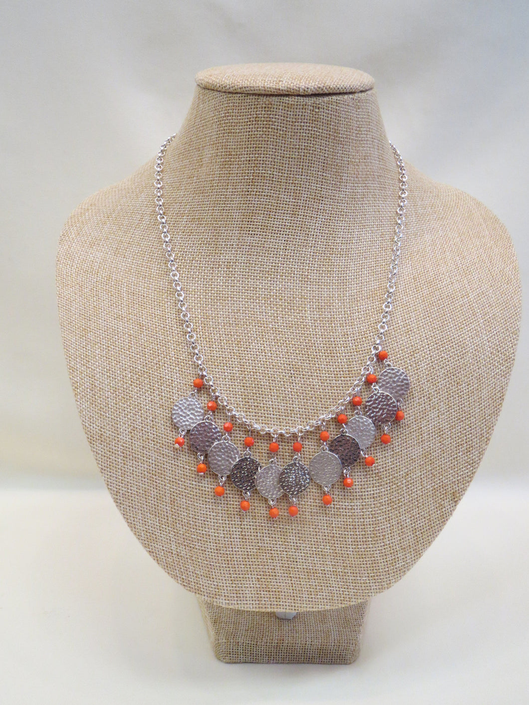 ADO Silver Necklace with Coral Beads | All Dec'd Out