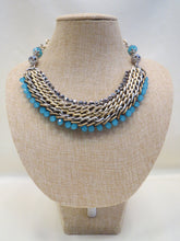 ADO | Blue & Chain Statement Necklace - All Decd Out