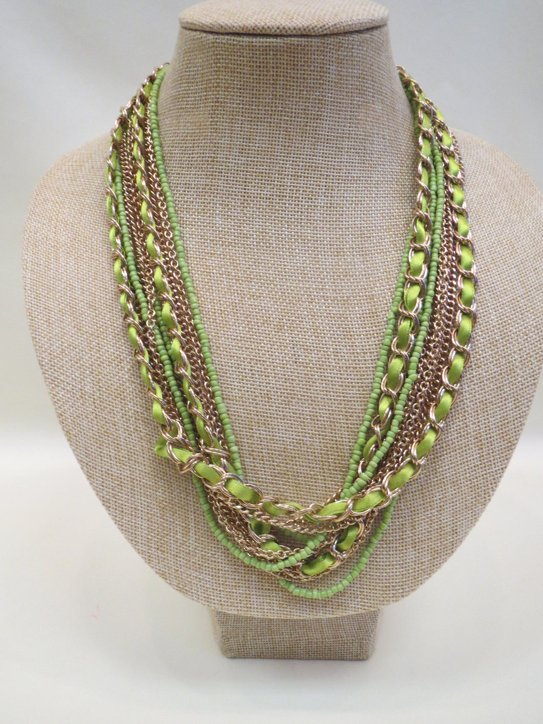 ADO Lime & Gold Multi Layer Necklace | All Dec'd Out