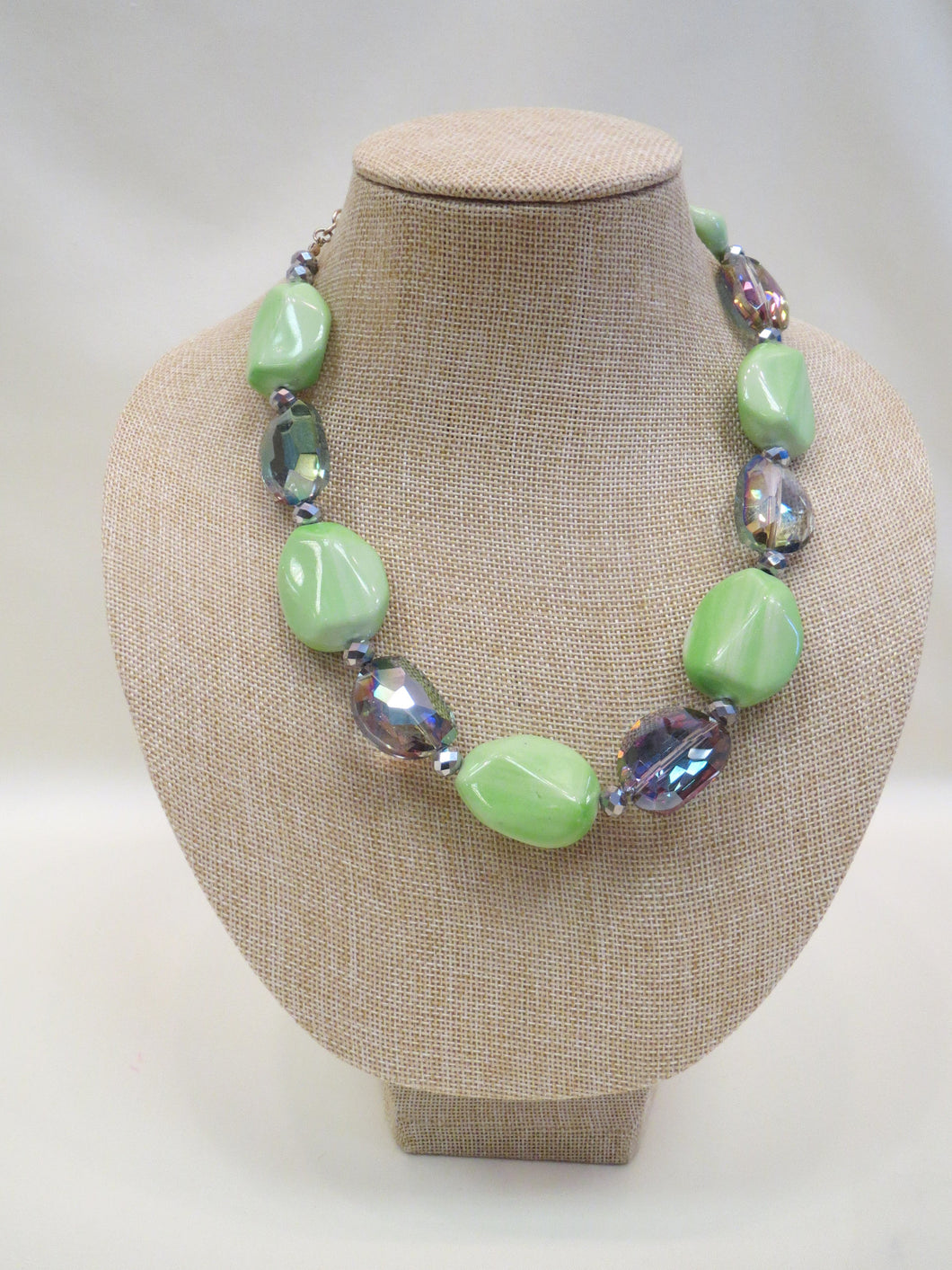 ADO | Lime Chunky Beaded Necklace - All Decd Out