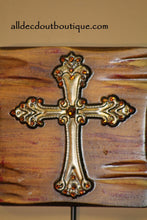 Wall Decor | Coat Hanger Embellished Cross - All Decd Out