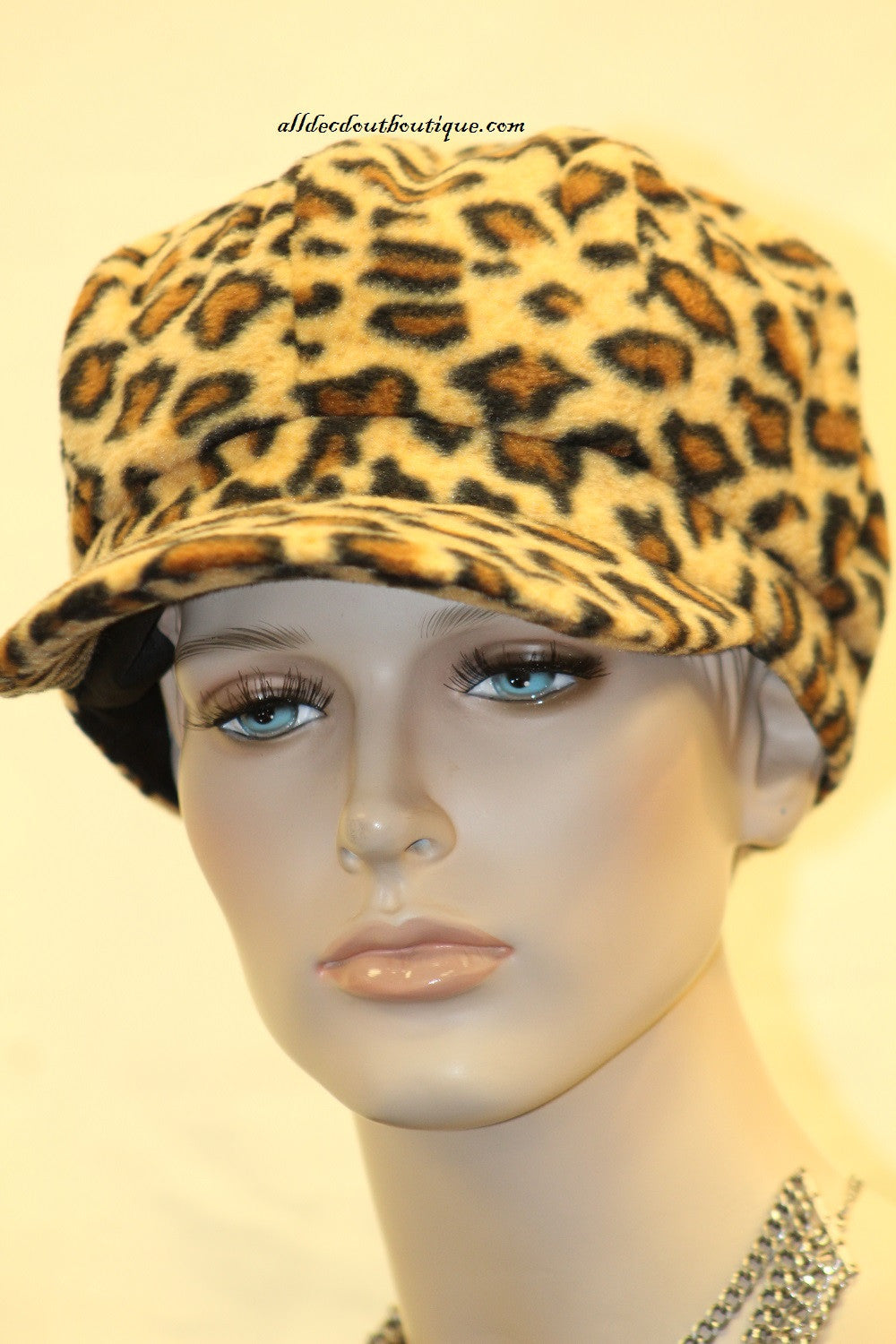 Newsboy Round Top Hat | Cheetah Print