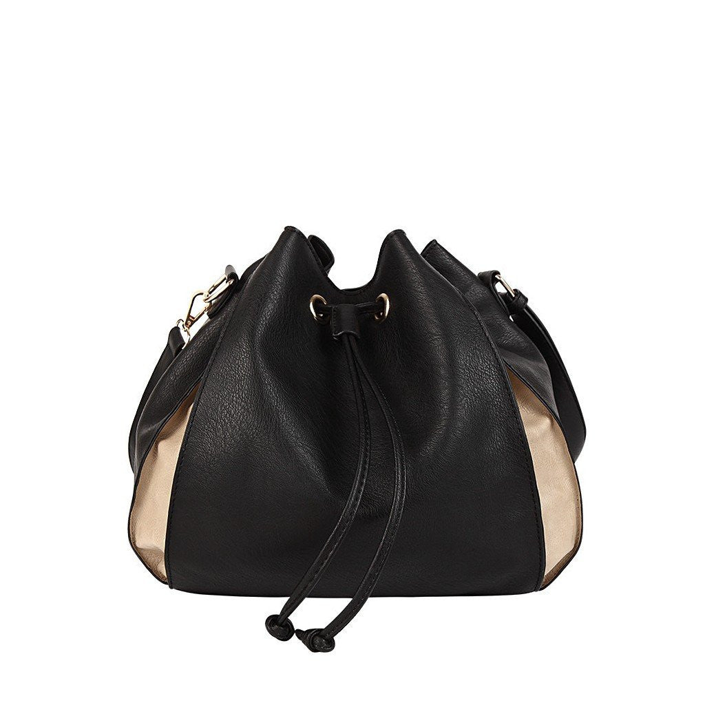 Melie Bianco | Drawstring Purse Black - All Decd Out