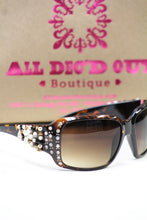 ADO | Customized Sunglasses Tortoise with Cross & Bling - All Decd Out