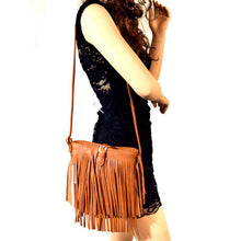 ADO Fringe Messenger Purse Tan | All Dec'd Out