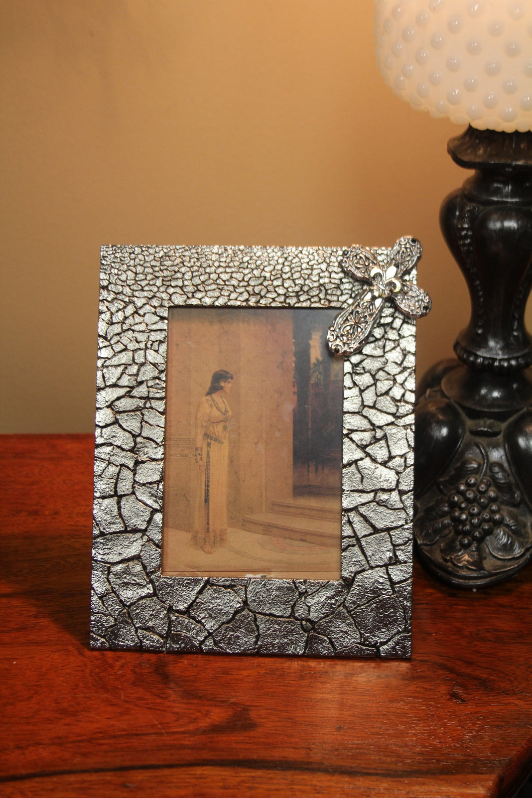 Decorative Picture Frame | Embellished Cross | 4 x 6 - All Decd Out