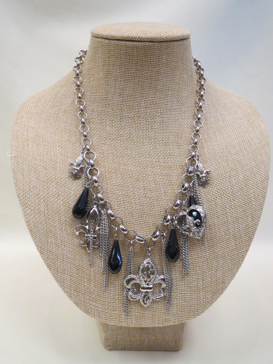 ADO | Fleur De Lis Charm Necklace - All Decd Out