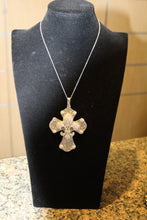 ADO | Cross with Fleur De Lis Embellished Silver - All Decd Out