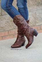 Very Volatile | Rawhide Cowgirl Boots Brown