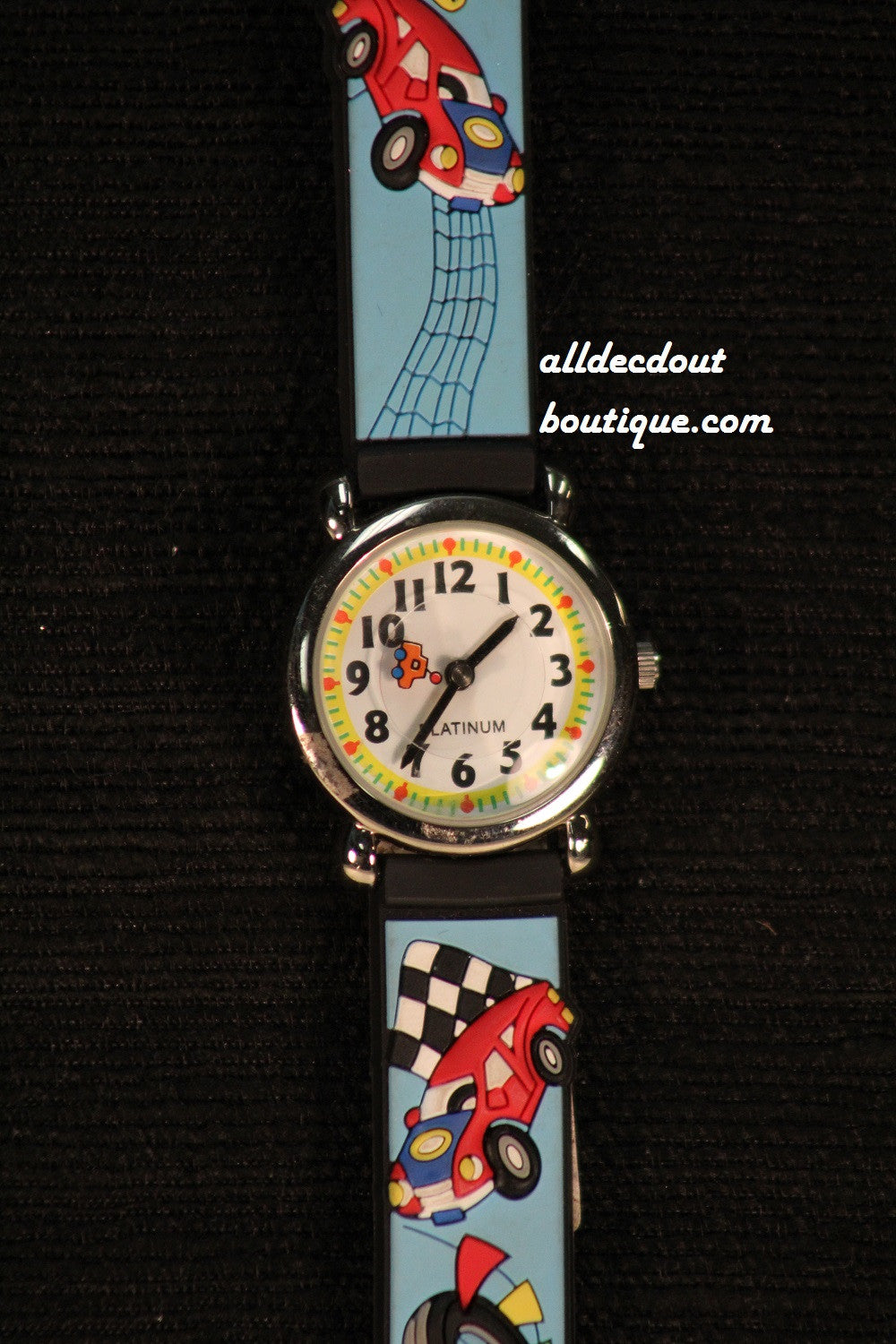 Blue/White Race Cars | Silicone Band - All Decd Out