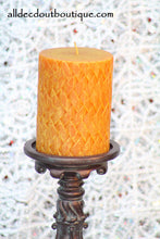 Pillar Candle Collector's Fitz And Floyd Seasons Gingersnap Pumpkin Candle