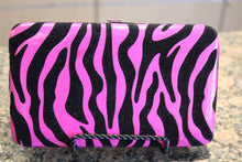 ADO | Hot Pink Zebra Print Clutch Wallet - All Decd Out