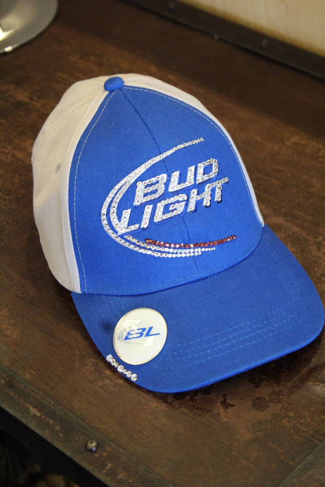 Perfect ... Bud Light | Embellished Blue/Grey Ball Cap ... Great Pictures