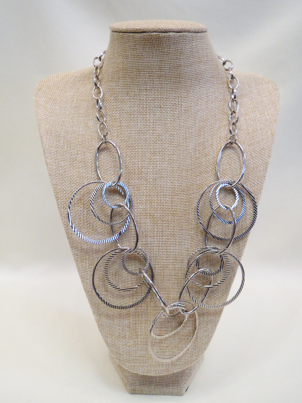 ADO Silver Circle Layer Necklace | All Dec'd Out